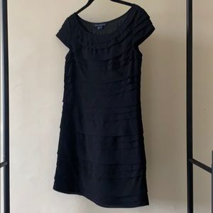 Like new French Connection Tiered Black Dress
